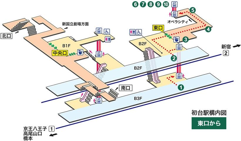 初台 駅 構内 図